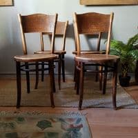 Set of 4 Crocodile Effect Chairs by Thonet